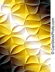 Yellow brown gradient background with abstract raised pattern