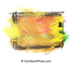 yellow brush strokes oil paint