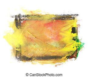 yellow brush strokes oil paint