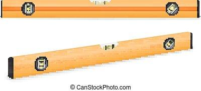 Yellow building level. Vector illustrtion