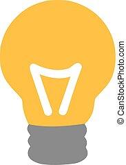Yellow bulb icon