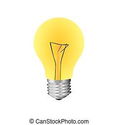 yellow bulb icon image