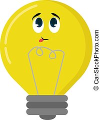 Yellow bulb, illustration, vector on white background.