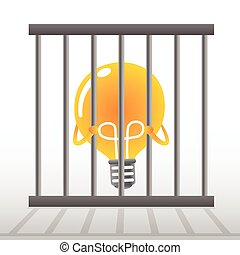 Yellow Bulb in a cage