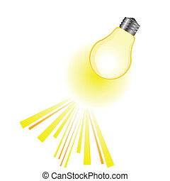 yellow bulb vector illustration
