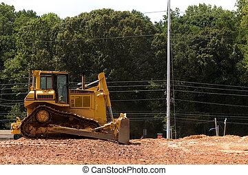 Yellow Bulldozer on Dirt
