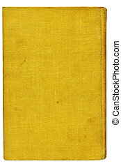 Yellow burlap canvas. Over white - Full screen high...
