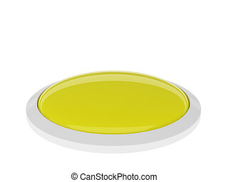 Yellow button isolated on white background