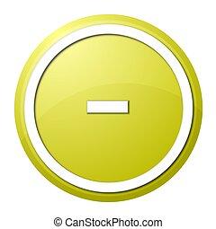 Yellow Button Minus