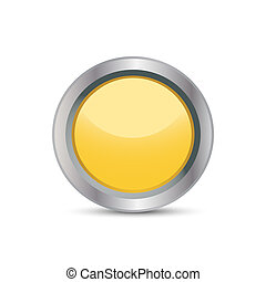 yellow buttons in a metal frame
