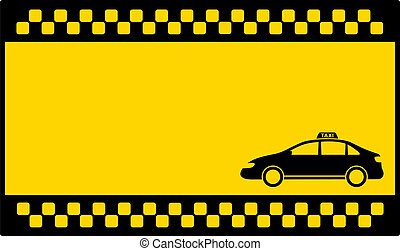 yellow cab background with taxi car