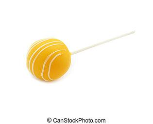 Yellow cake pop