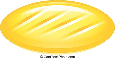 Yellow candy icon, isometric style