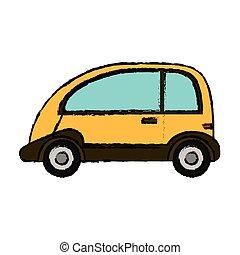 yellow car vehicle transport