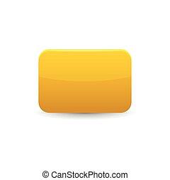 Yellow card icon, cartoon style