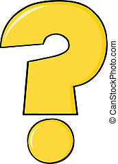 Yellow Cartoon Question Mark