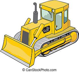 caterpillar bulldozer - yellow caterpillar bulldozer for ...