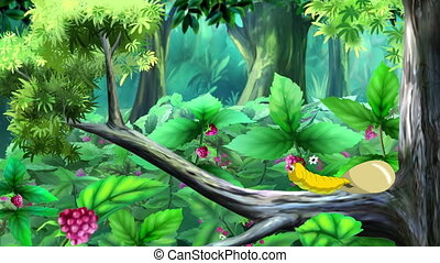 Yellow Caterpillar Hatching from Egg. Handmade Animation
