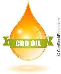 Yellow cbd oil drop