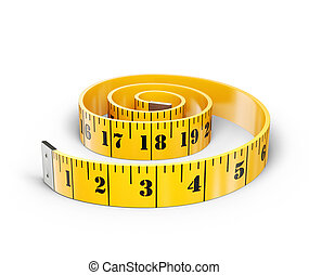 centimeter - yellow centimeter isolated on a white ...
