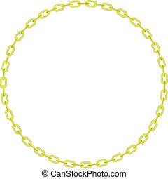 Yellow chain in shape of circle