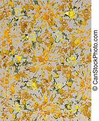 Yellow chalk art - Shades of yellow and gold art resembling ...