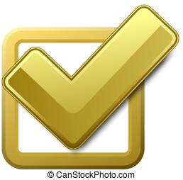Yellow check box