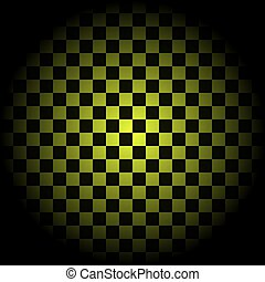 Yellow Checkered Background in circle vector illustration
