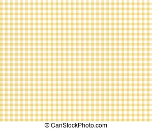 yellow checkered picnic tablecloth, abstract background
