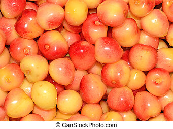 Yellow cherries background