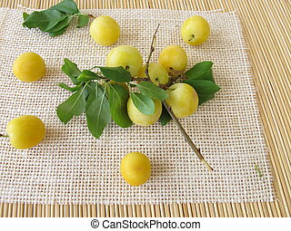 Yellow cherry plums