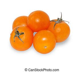 Yellow cherry tomato isolated