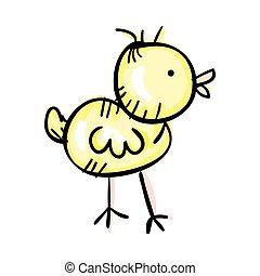yellow chick bird