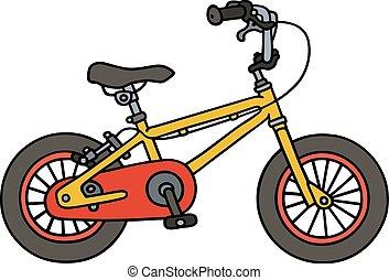 Yellow child bike