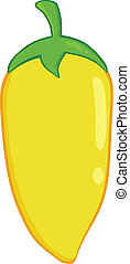 Yellow Chili Pepper Illustration