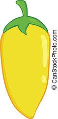 Yellow Chili Pepper Illustration