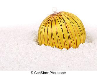 Yellow christmas ball.