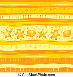 Yellow Christmas seamless backgroun
