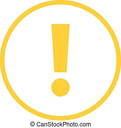 Yellow circle exclamation mark icon warning sign