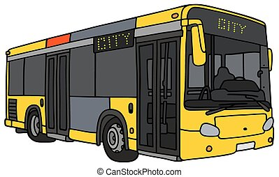 Yellow city bus