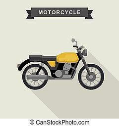 Yellow classic bike.