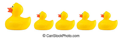yellow classic rubber bath duck toy family