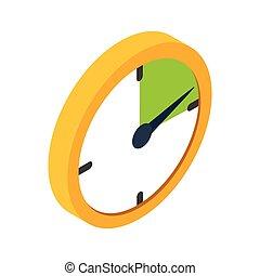 Yellow clock isometric 3d icon