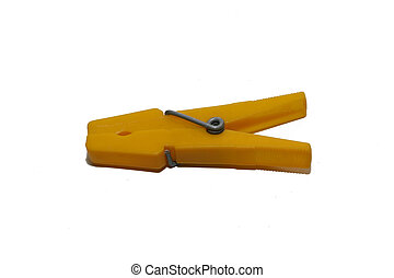 yellow clothes peg