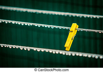 Yellow Clothes Pin