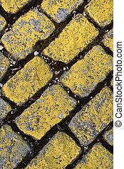 Yellow cobble, - Yelow cobble,