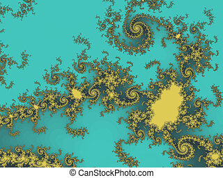 Yellow colored abstract fractal background