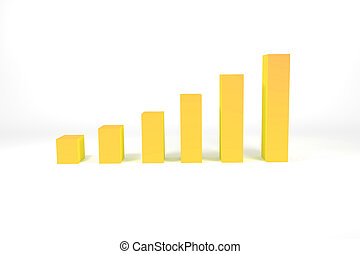 yellow colored bar diagram growth