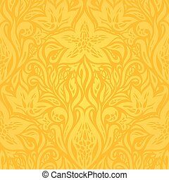 Yellow colorful floral wallpaper background