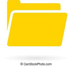 Yellow computer folder vector icon